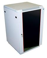 """Шкаф телекоммуникационный напольный 19"""",18U(600x600), ШТ-НП-18U-600-600-С, передняя дверь стекло"""