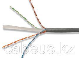 LC1-C604-121 ITK Кабель связи витая пара U/UTP, кат.6 4x2х23AWG solid, LSZH, 305м, серый