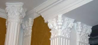 Колонны в сборе, Пилястры, база колонны, ствол колонны