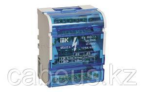 YND10-4-15-125 Шины на DIN-рейку в корпусе (кросс-модуль) 3L+PEN 4х15 ИЭК