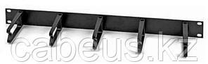 """(FQ100052718) Кабельный горизонтальный органайзер 1U, 19"""", черн. (2 шт. в упаковке)"""