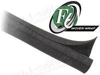 F6W1..BK Самозакрывающаяся оборачиваемая эластичная тканевая кабельная оплетка, фото 1
