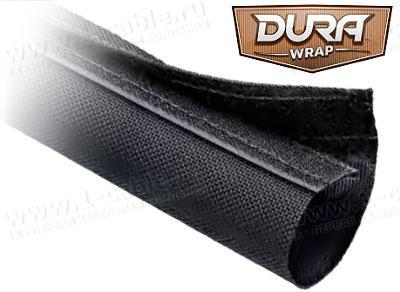 DWN..BK Застегивающаяся неэластичная тканевая кабельная оплетка на замке-липучке Dura Wrap