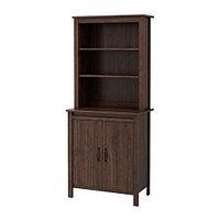 Шкаф высокий с дверями БРУСАЛИ коричневый ИКЕА, IKEA
