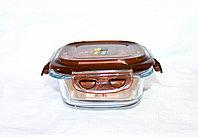 Контейнер для еды, стеклянный, D 19 см, фото 1