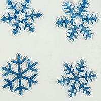 "Наклейки на стекло ""Синие резные снежинки"" (набор 4 шт.)"