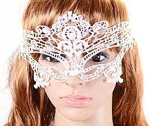 Ажурная кружевная белая маска