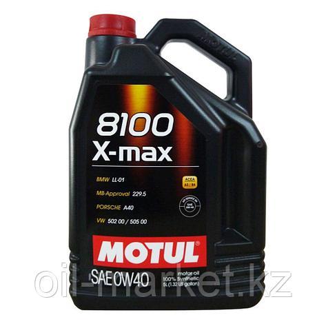 Моторное масло MOTUL 8100 X-max 0W-40 4л, фото 2