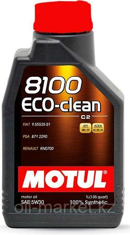 Моторное масло MOTUL 8100 Eco-clean 5W-30 1л, фото 2