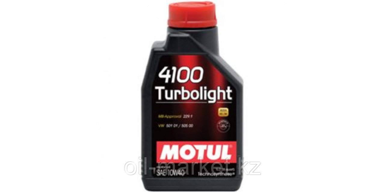Моторное масло MOTUL 4100 Turbolight 10W-40 1л