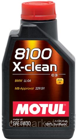 Моторное масло MOTUL 8100 X-clean+ 5W-30 1л, фото 2