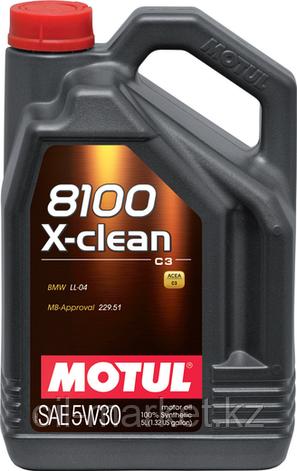 Моторное масло MOTUL 8100 X-clean+ 5W-30 5л, фото 2
