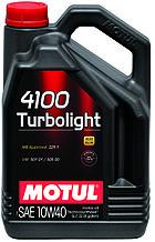 Моторное масло MOTUL 4100 Turbolight 10W-40 4л