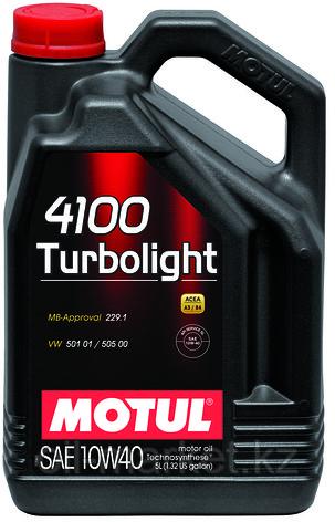 Моторное масло MOTUL 4100 Turbolight 10W-40 5л, фото 2