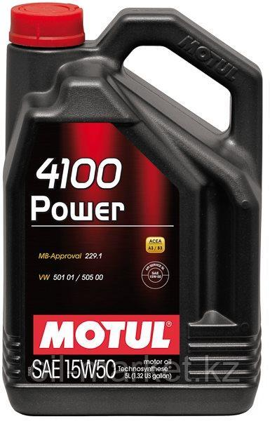 Моторное масло MOTUL 4100 Power 15W-50 5л