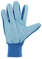 Перчатки рабочие х/б ткань с ПВХ точкой, манжет, XL //СИБРТЕХ