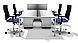 Стол двойной прямой на П - опорах, фото 4