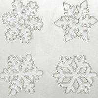 """Наклейки на стекло """"Белые снежинки"""" (набор 4 шт.)"""