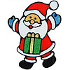 "Наклейка на стекло ""Дед Мороз с подарком"""