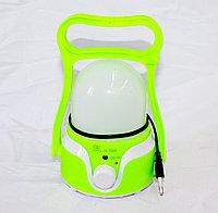 Фонарь кемпинговый аккумуляторный, зеленый, фото 1