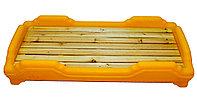 Детская мобильная кроватка, желтая