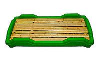 Детская мобильная кроватка, зеленая