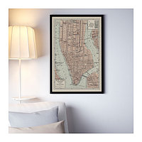 Постер Бильд Карта Манхэттена II