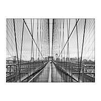Постер Бильд Прогулка по Бруклинскому мосту