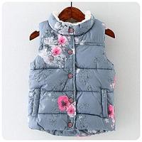 Цветочная жилетка для девочек, утепленная, фото 1