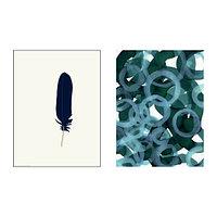 Набор постеров Твиллинг 2 шт, Синие вариации
