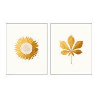 Набор постеров Твиллинг 2 шт, Золотые листья