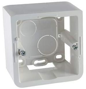 Коробка накладная, цвет белый, 2 модуля, глубина 30мм