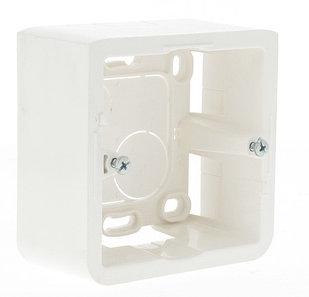 Коробка накладная, цвет белый, 2 модуля, глубина 40мм