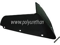 Стекло ветровое для снегохода Polaris RUSH 2011-тонированное (черный)