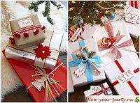Новогодние упаковочные материалы для подарков