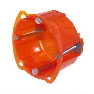 Коробка круглая для кирпичных стен 1 пост (2 модуля) Глубина 40/30мм