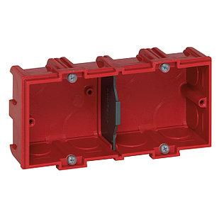 Коробка для кирпичных стен 2 поста (4/5/2*2 модулей) Глубина 40мм