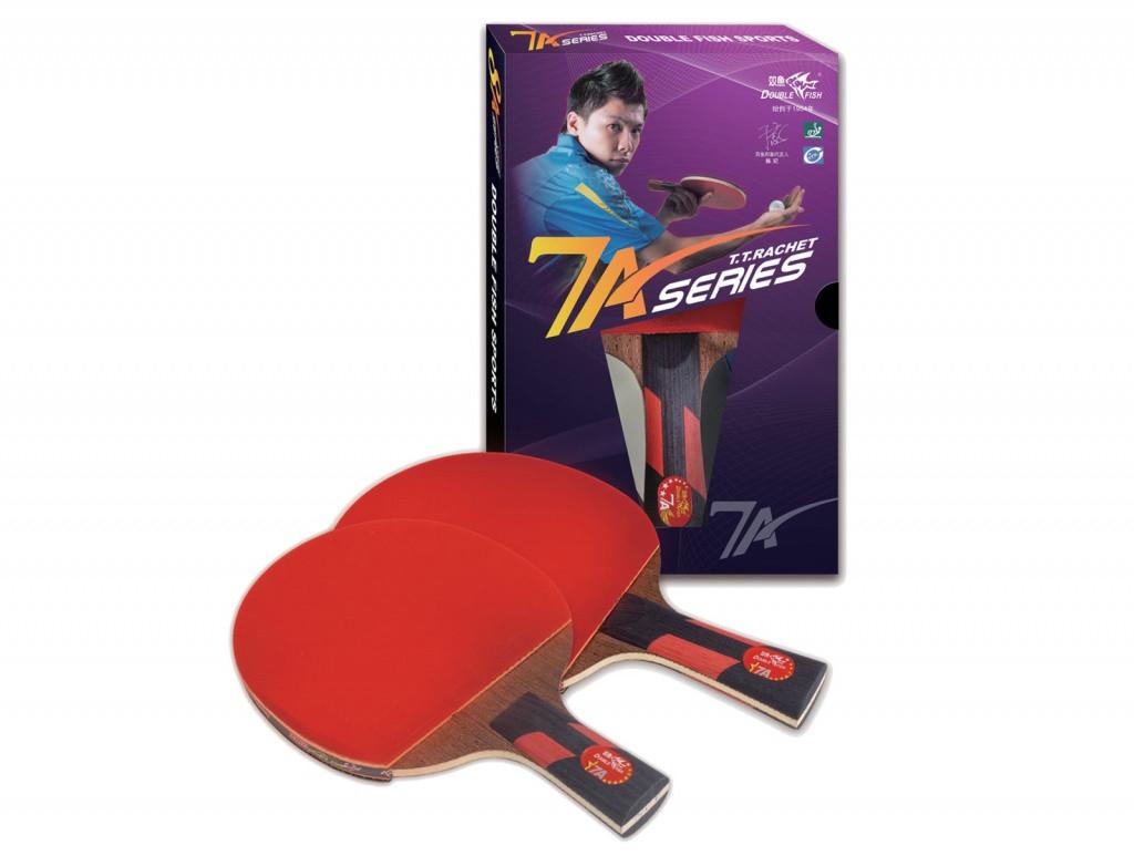 Ракетка для настольного тенниса DOUBLE FISH - 7А-С (с чехлом)