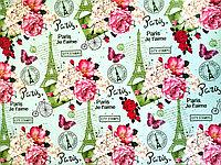 """Бумага подарочная """"Paris"""", фото 1"""