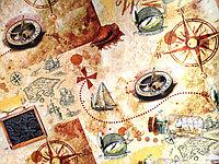 """Бумага подарочная """"Мир путешествий"""", фото 1"""