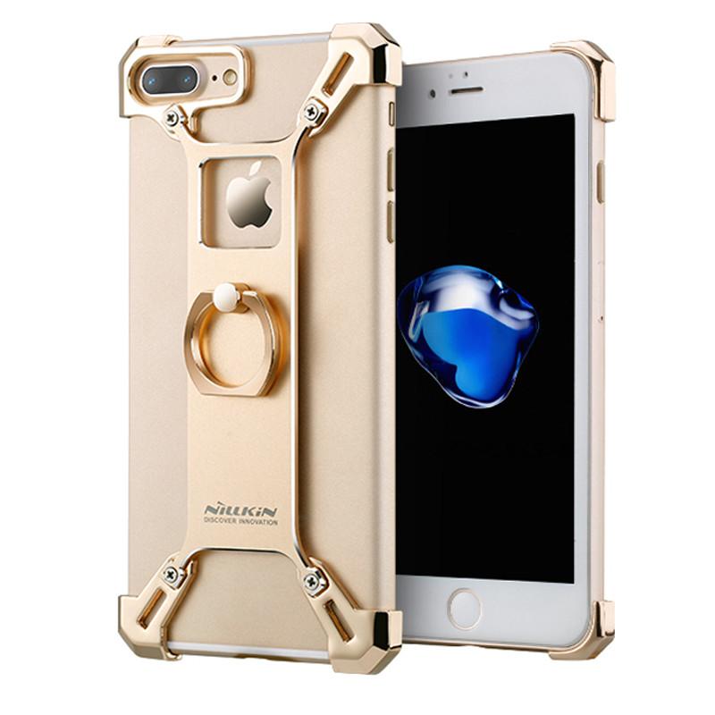 Защитный чехол бампер Barde border для iPhone 7 Plus (золотистый)