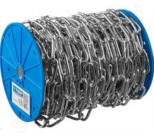 Цепь короткозвенная DIN 766, оцинкованная сталь, d=10мм, L=10м