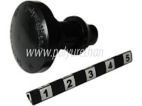 Клипса посадочная для стёкол толщиной 4.5 мм (черный)