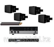 Комплект с настенной акустикой AUDAC до 100 м2 (для кафе, баров, ресторанов)