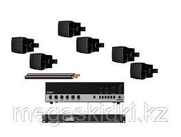 Комплект с настенной акустикой AUDAC до 200 м2 (для кафе, баров, ресторанов)