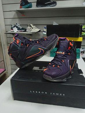 Баскетбольные кроссовки Nike Lebron XII (12) Deep Blue Orange, фото 2