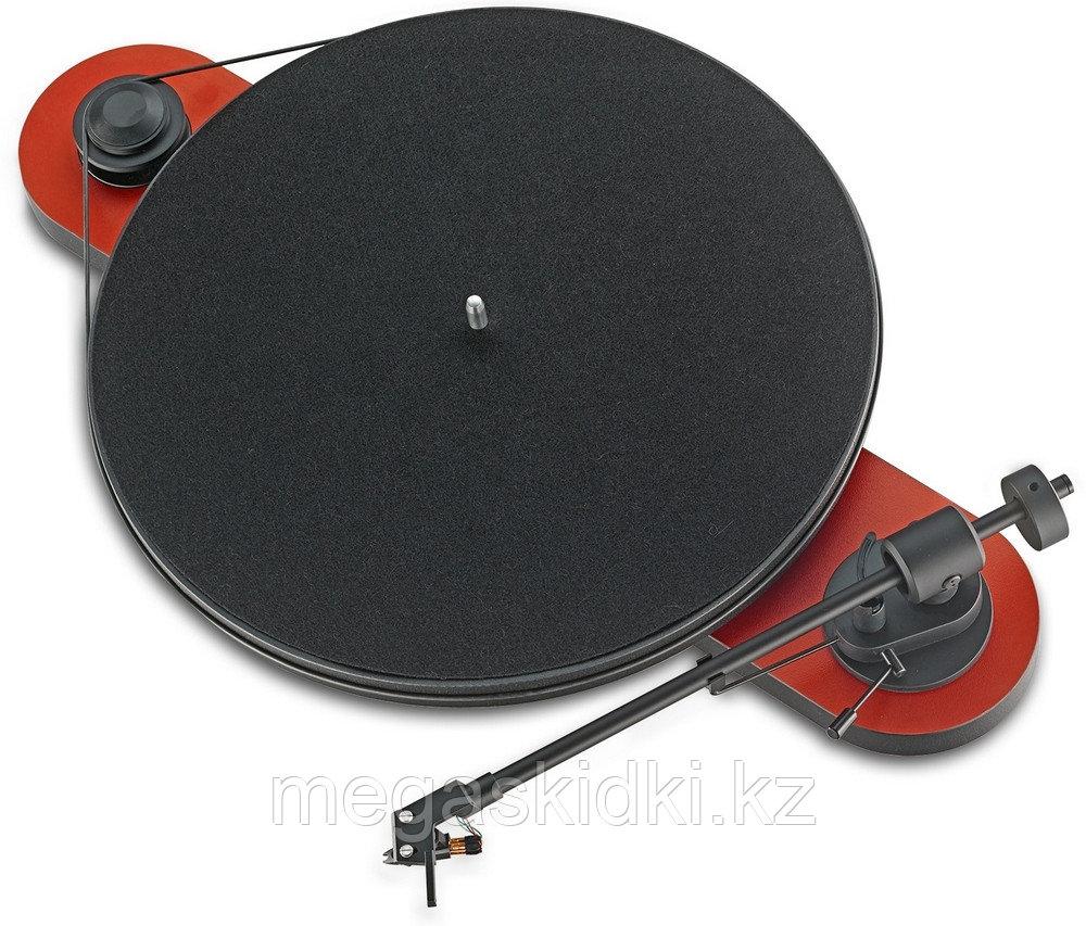 Виниловый проигрыватель Pro-Ject Elemental Phono USB OM5e красно-черный