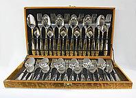 Набор столовых приборов 36 предметов на 12 персон (серебристый), фото 1