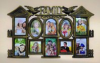 """Фоторамка """"Бронзовый замок Family"""", на 10 фото, фото 1"""