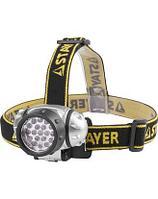 Фонарь налобный светодиодный, 19LED, 4 режима, 3ААА, Stayer TOPLight